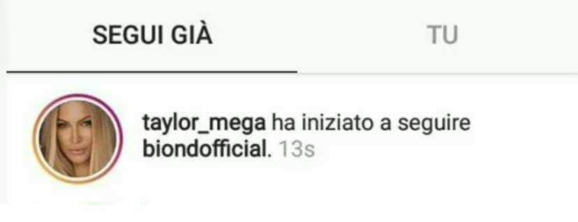 Biondo Taylor Mega instagram 2