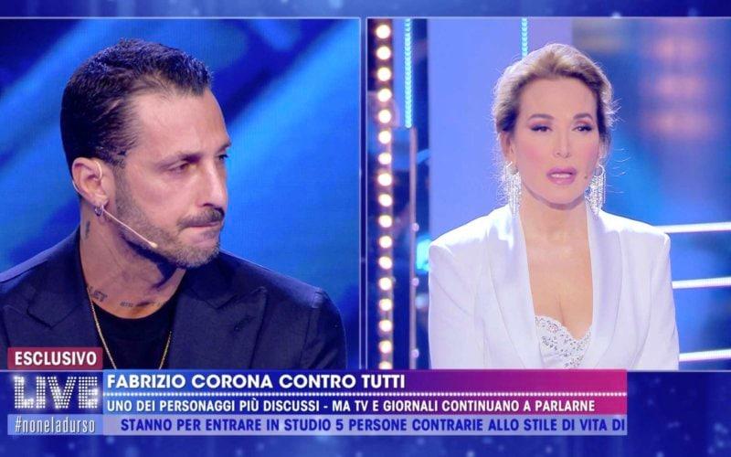 Fabrizio Corona Barbara d'Urso Live non è la d'urso
