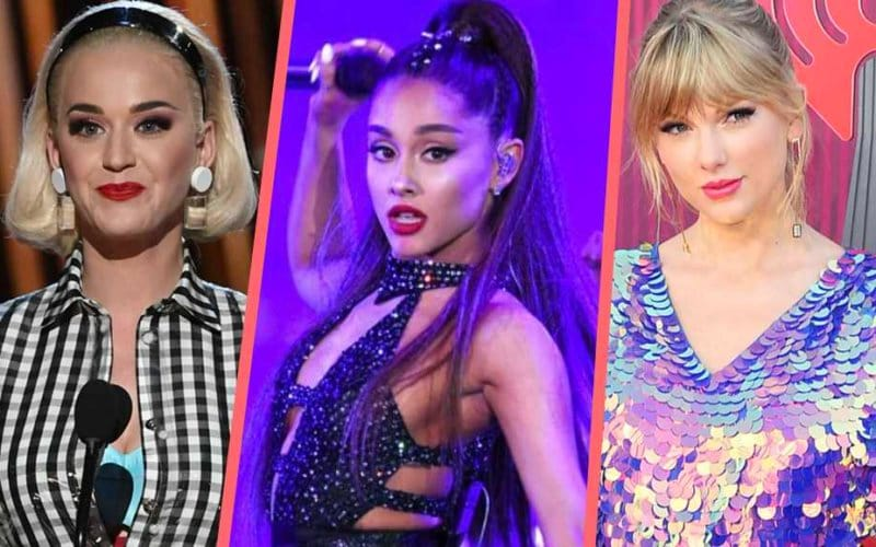 iheartradio music awards 2019 ariana katy taylor swift