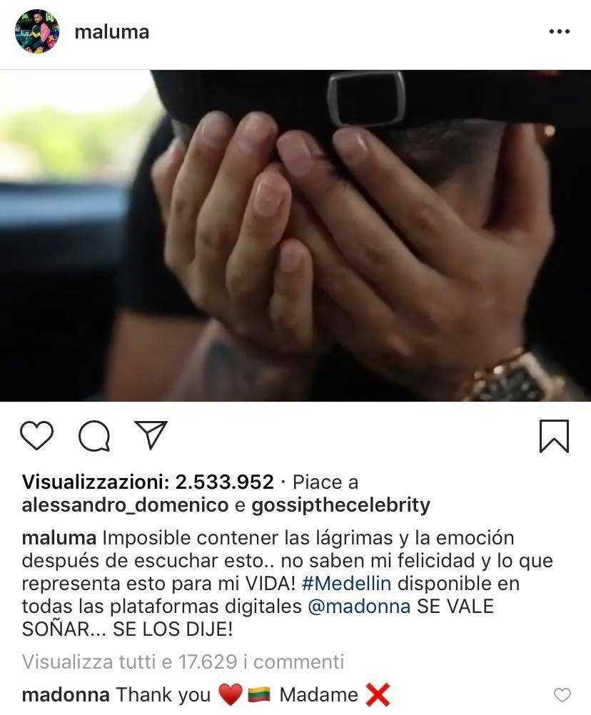 Maluma Piange Madonna