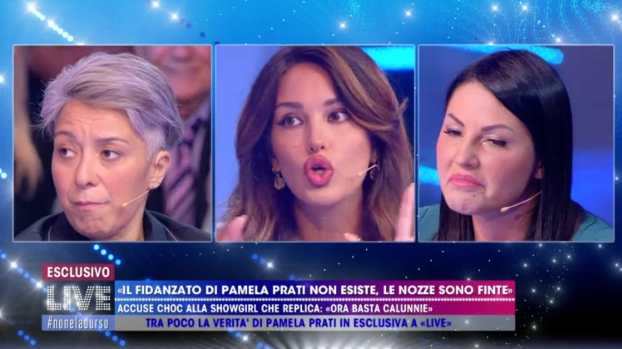 Rosa Perrotta Live non è la d'Urso Pamela Prati