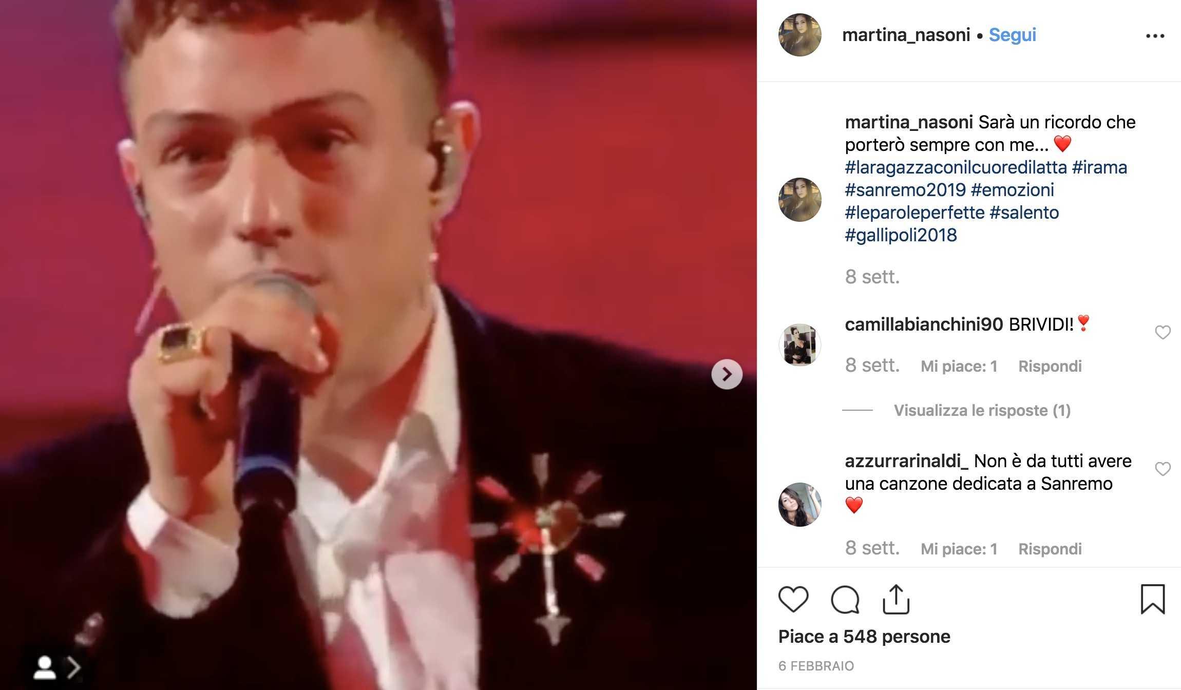 Martina Nasoni al GF 16, parla di lei la canzone di Irama?