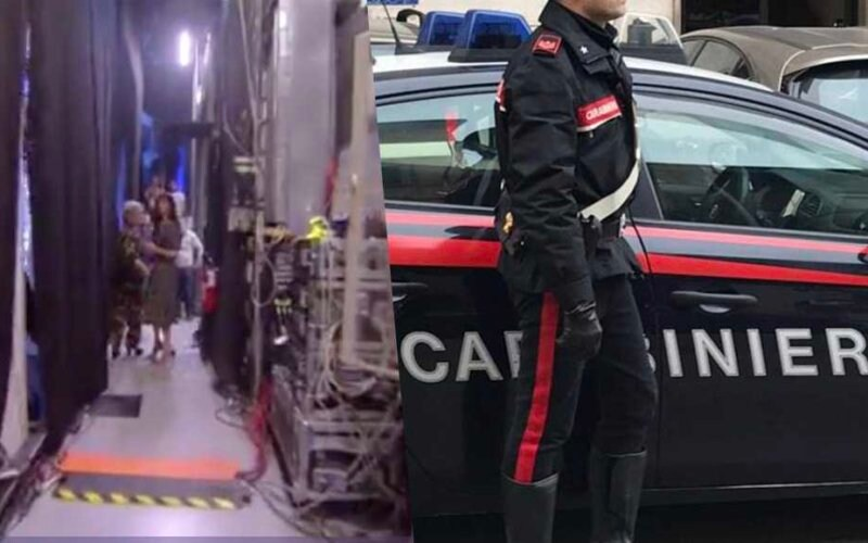 pamela prati live non e la durso carabinieri bagni riccardo signoretti