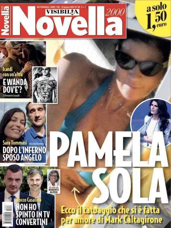Pamela Prati Tatuaggio Mark Caltagirone
