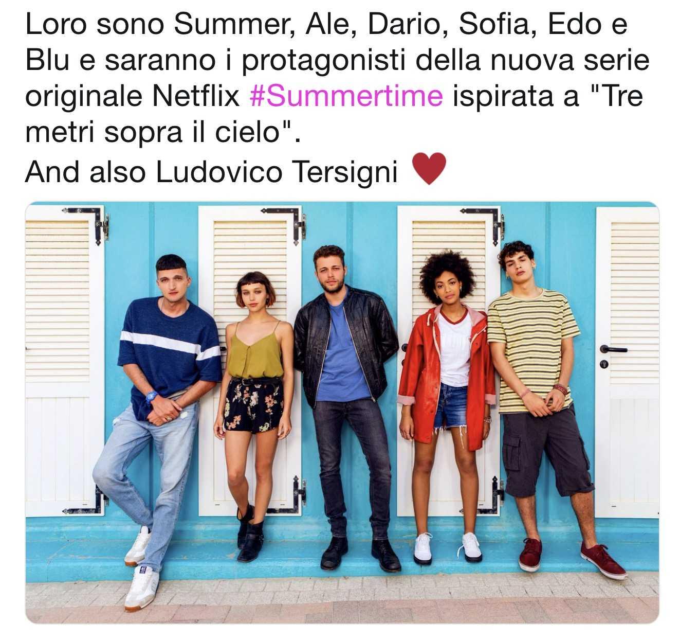 Summertime, la serie Netflix ispirata a Tre metri sopra il cielo