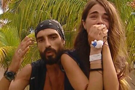 Violeta Mangriñan costretta a ritirarsi piange fra le braccia di Fabio Colloricchio 2