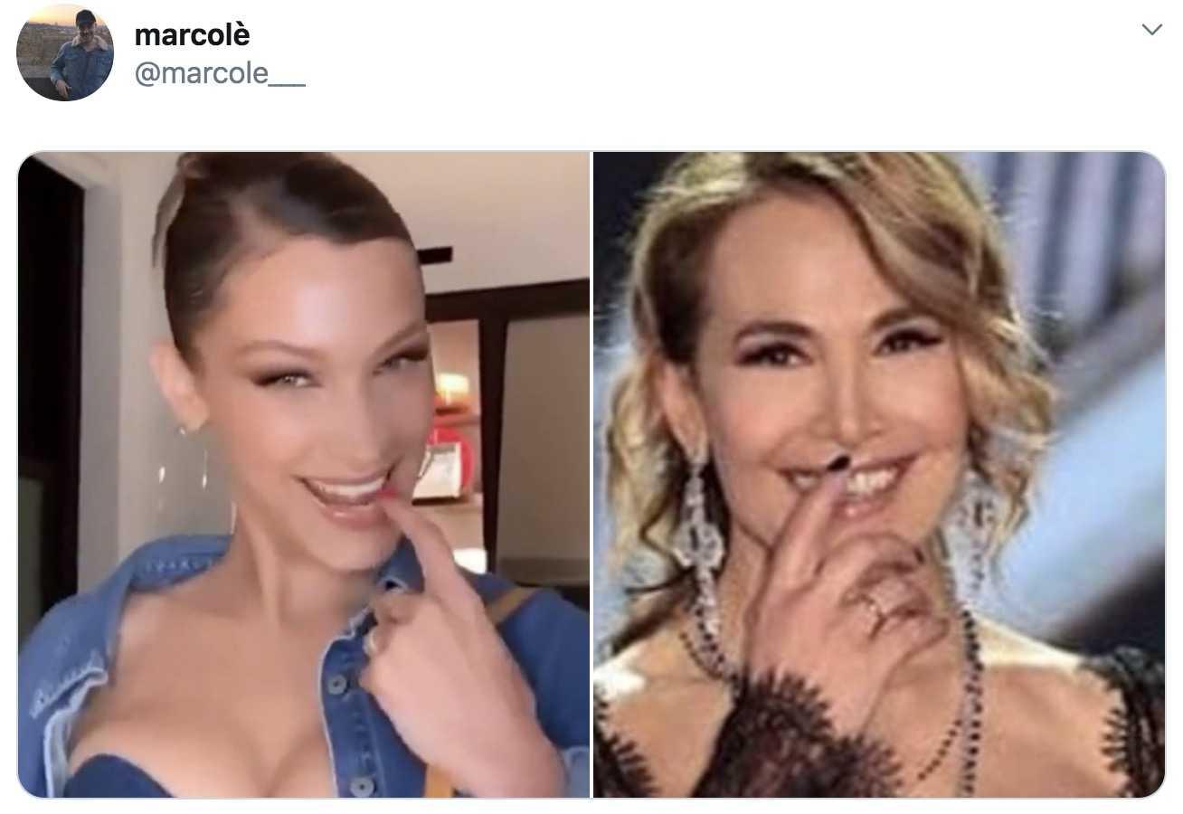 Bella Hadid e Barbara d'Urso 2019-07-03 alle 17.35.27