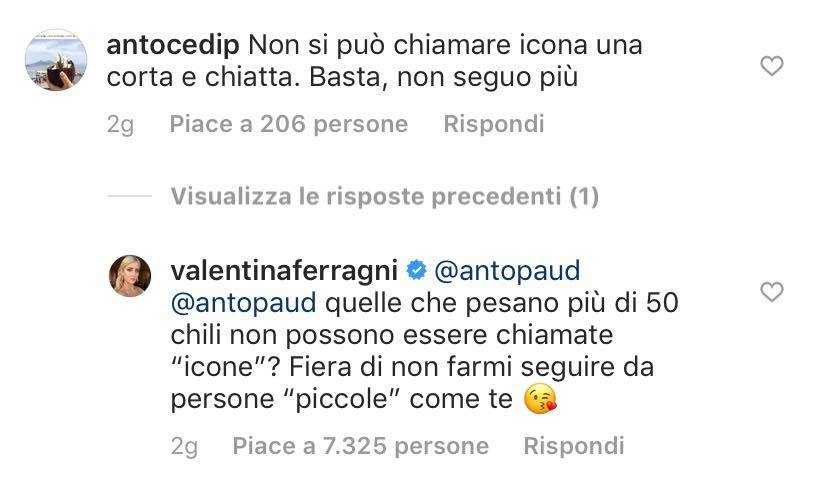 Valentina Ferragni Hater