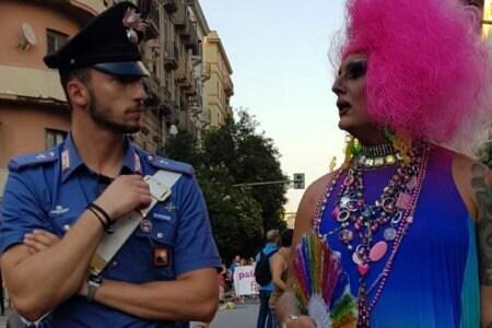 carabiniere drag queen pride palermo gay