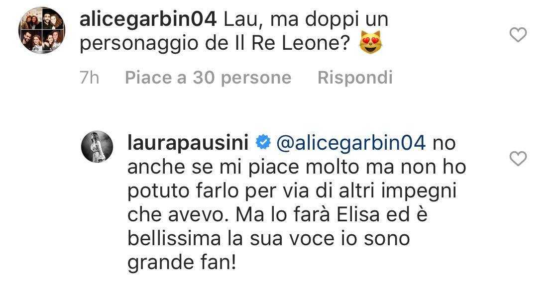 laura pausini elisa re leone disney