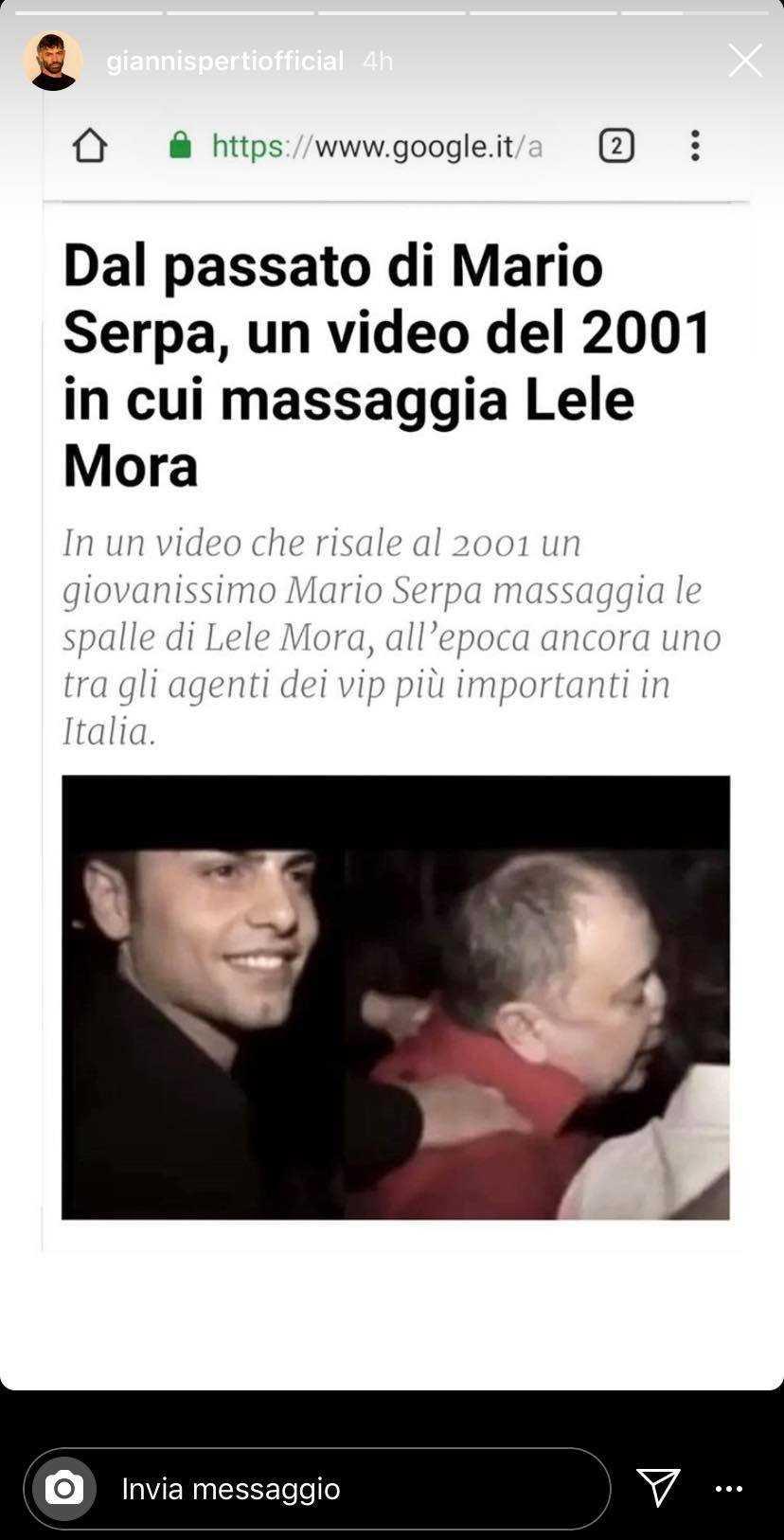 Gianni Sperti Mario Serpa