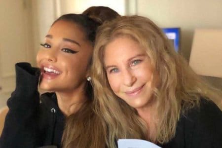 ariana grande barbra streisand video enough