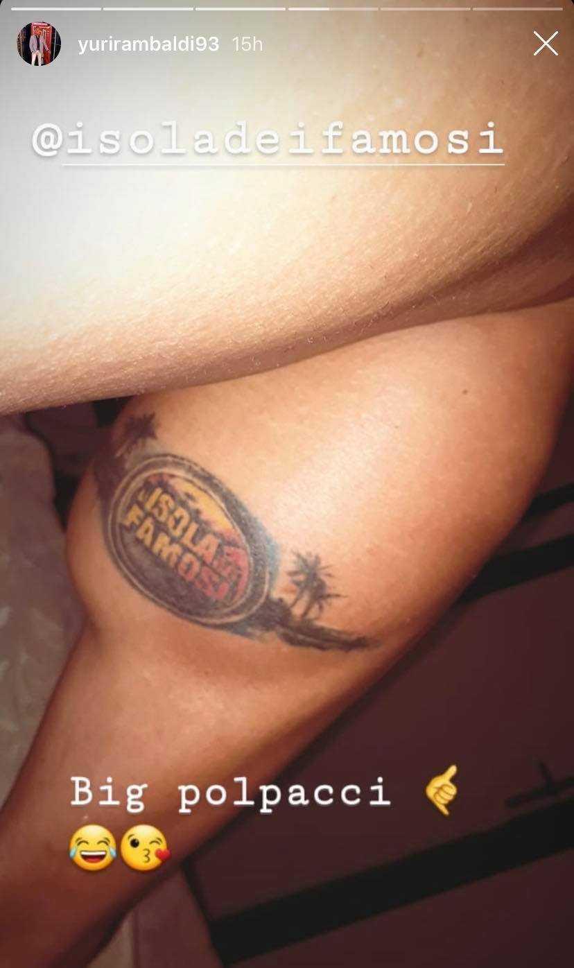 tatuaggio isola dei famosi