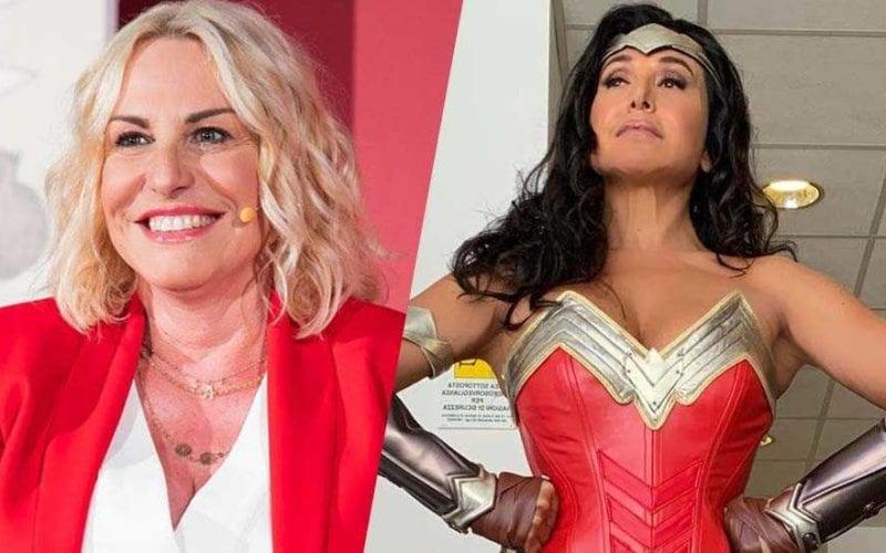 Antonella Clerici Barbara d'Urso Wonder Woman