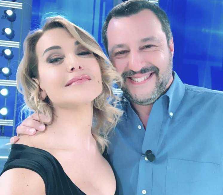 Barbara d'Urso Matteo Salvini Live Non è la d'Urso