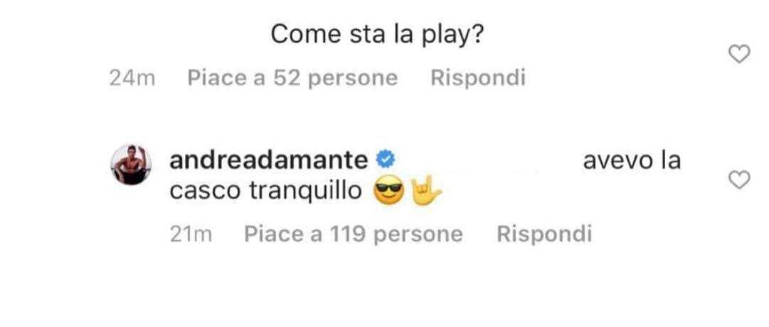 Giulia De Lellis Andrea damante Iannone
