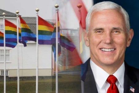 Mike Pence gay island flags rainbow