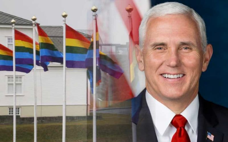 Mike Pence gay island flags rainbow