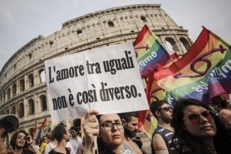 Un momento del Roma Pride 2016,  Roma, 11 Giugno 2016. ANSA/ GIUSEPPE LAMI