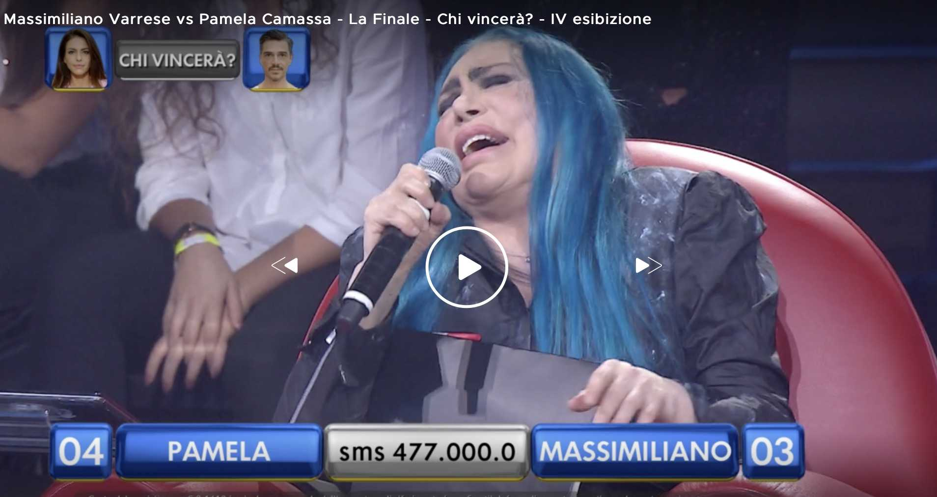 Loredana berte ride amici celebrities massimiliano varrese