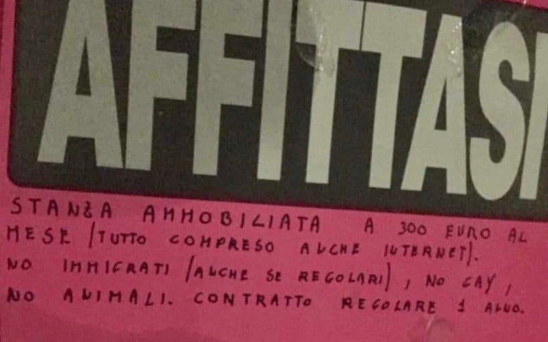 Roma affitto gay immigrati animali quartiere casa appartamento omofobia