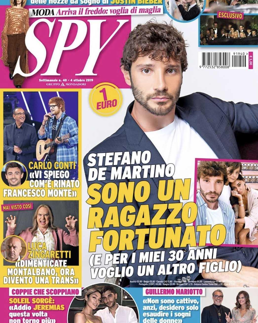 Stefano De Martino padre belen rodriguez incinta santiago