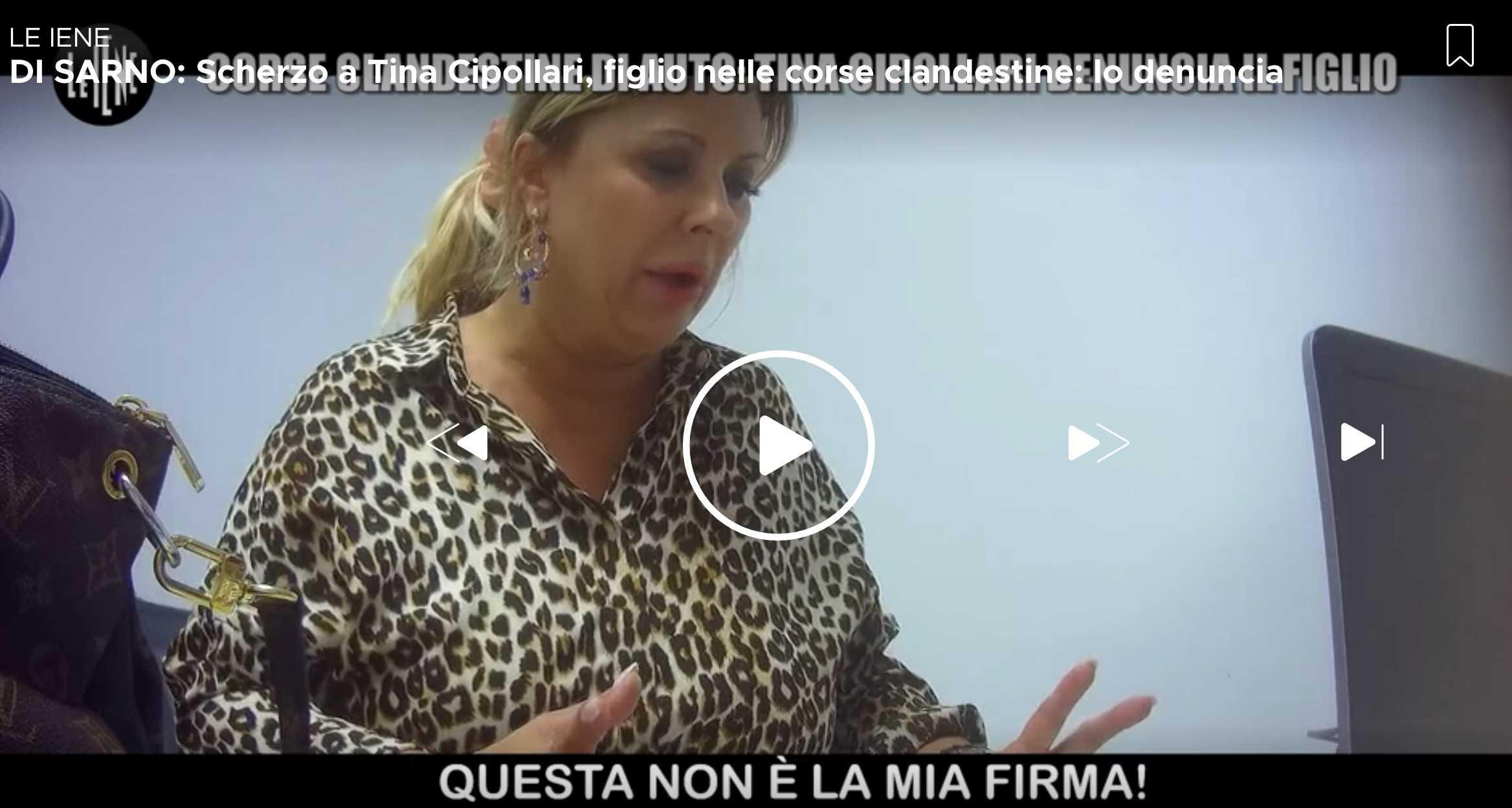 Tina Cipollari Le Iene lo scherzo Mattias