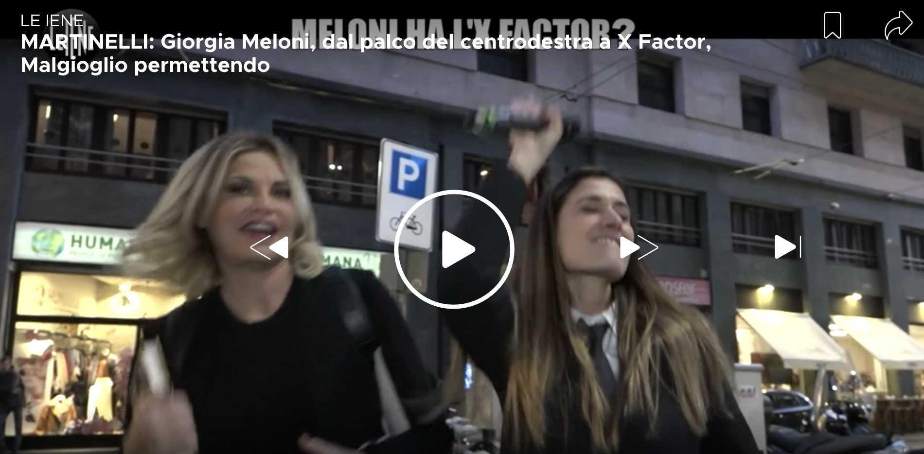 simona Ventura balla Io SOno Giorgia Meloni Le Iene