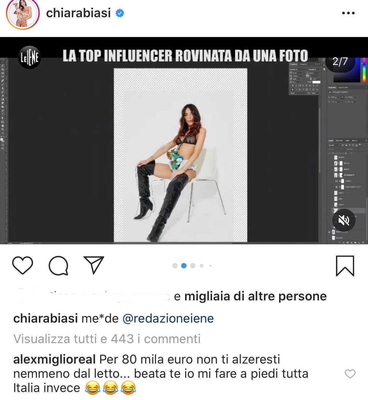Chiara Biasi a Le Iene: