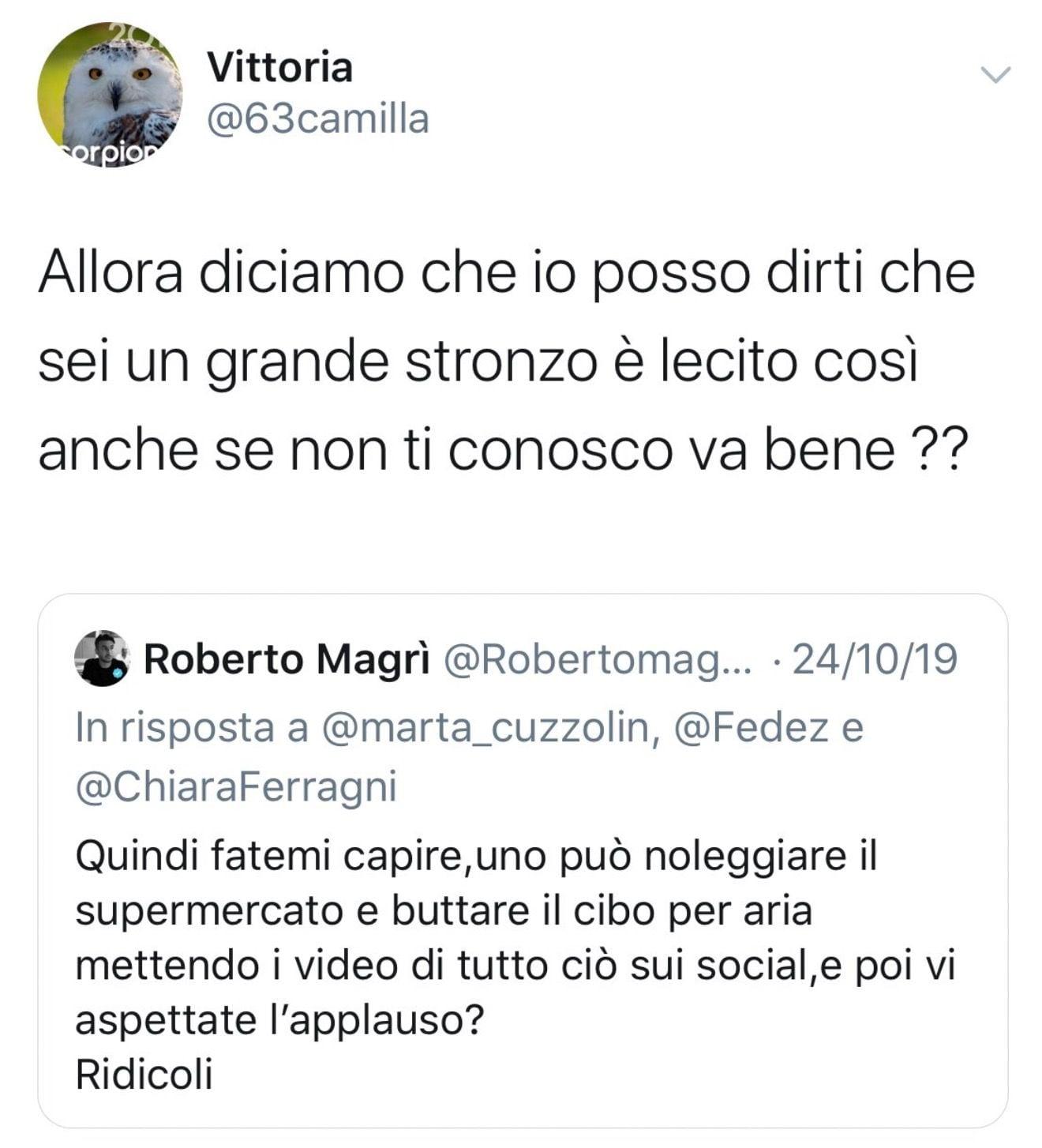Fedez e Chiara Ferragni utilizzano un profilo fake per difendersi?