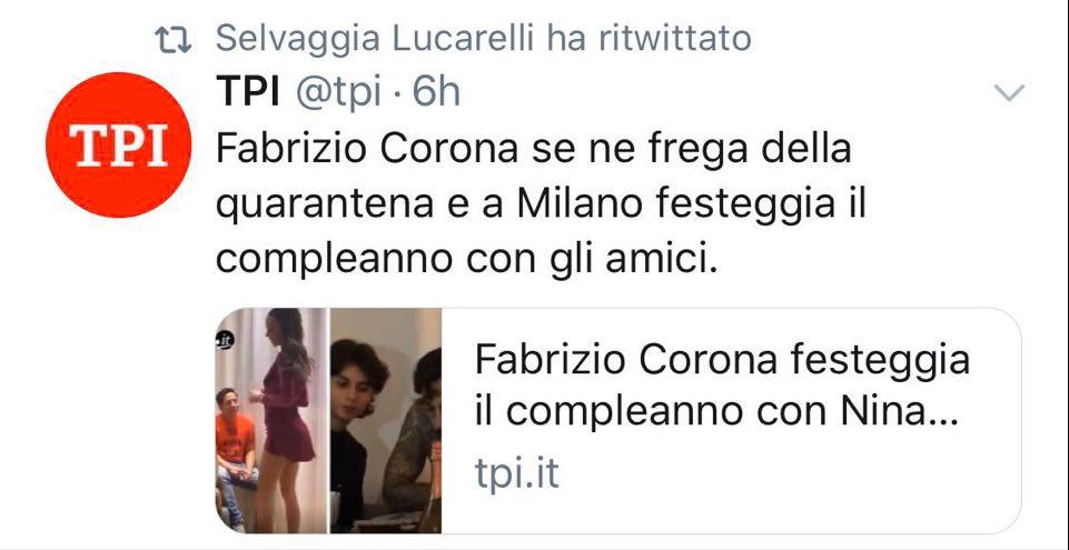 Fabrizio Corona vs Selvaggia Lucarelli: accusato di non rispettare la ...