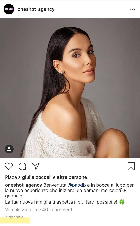 Paola Di Benedetto, un'agente tv l'attacca e supporta la sua