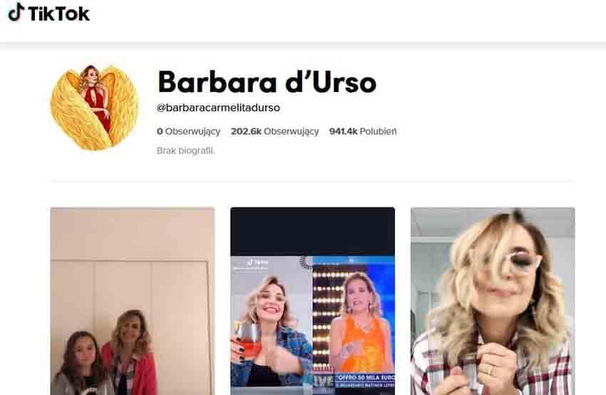 Barbara d'Urso, su Tik Tok