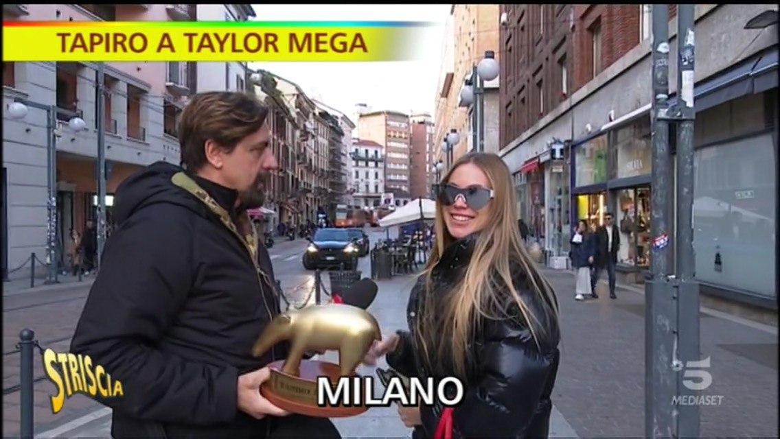 Taylor Mega, Tapiro di Striscia la Notizia
