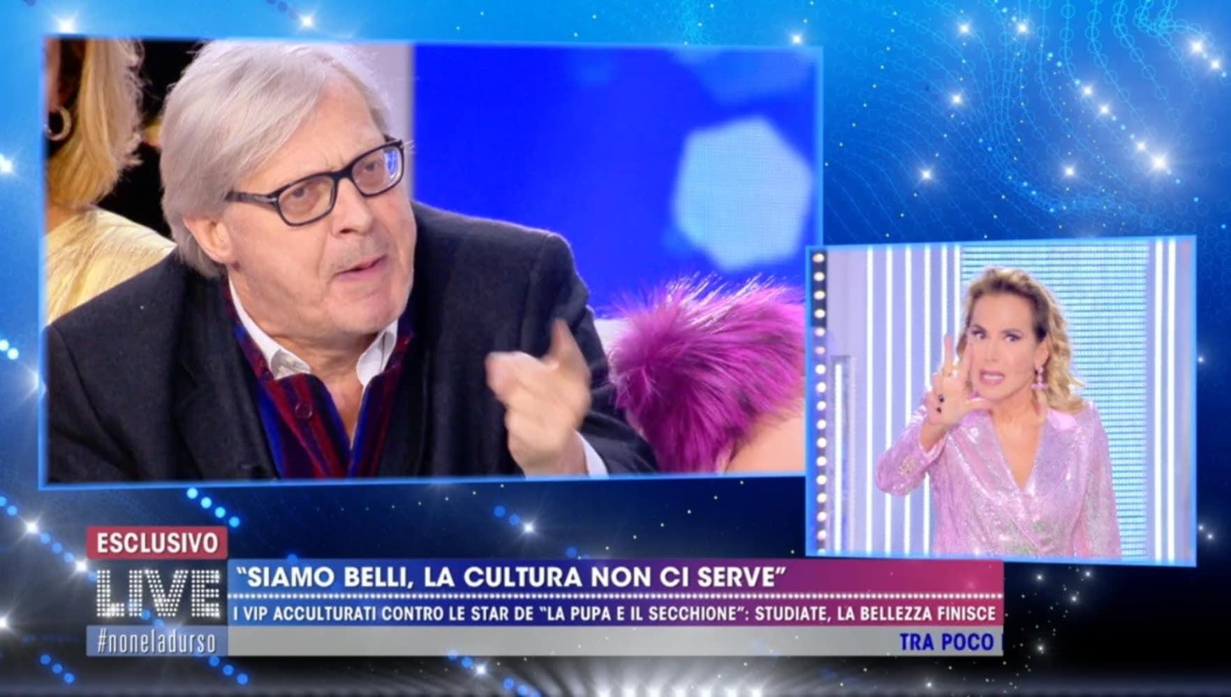 Lite choc a Live: Sgarbi contro Barbara d'Urso