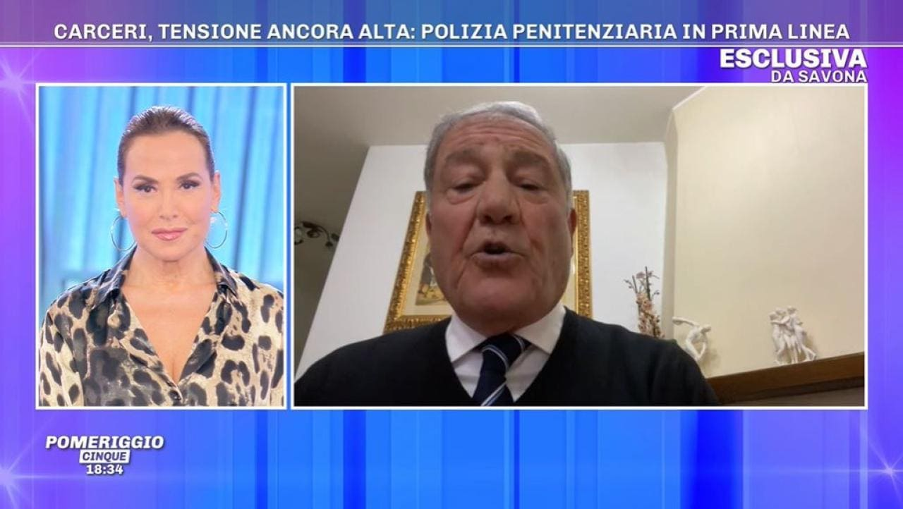 Barbara d'Urso, lo scontro con il segretario della Polizia Penitenziaria
