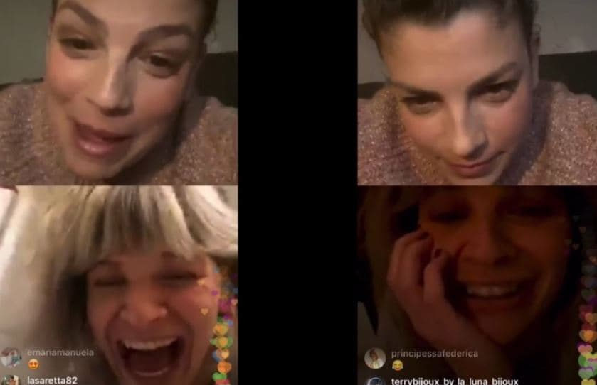 Alessandra Amoroso e Emma Marrone, gaffe in diretta Instagram