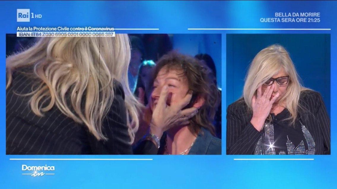 Mara Venier piange a Domenica In