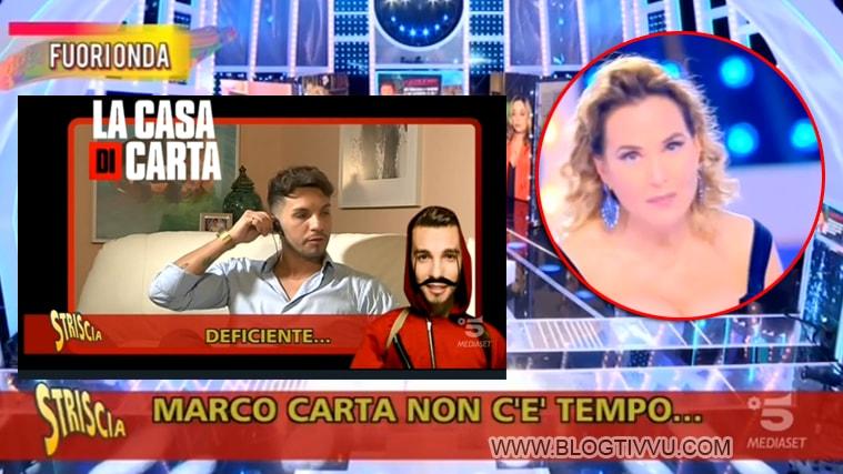 "Marco Carta furioso con Barbara d'Urso: ""Deficiente"""