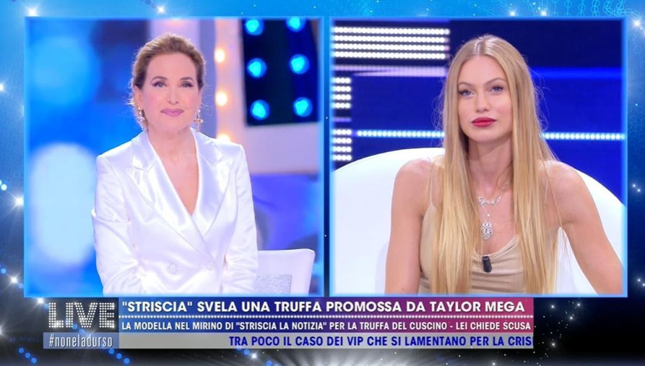 Barbara d'Urso perdona Taylor Mega
