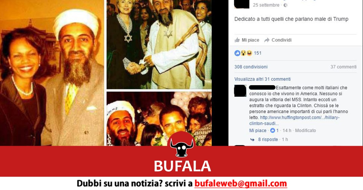 bufala bin laden clinton rice obama