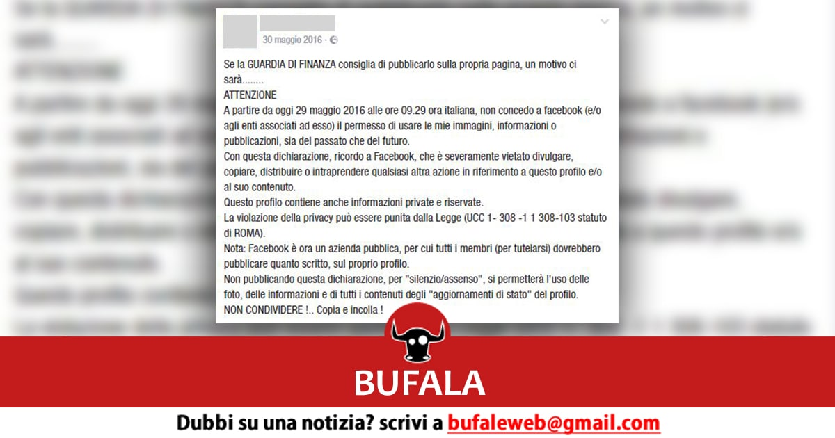 bufala privacy facebook gdf mask