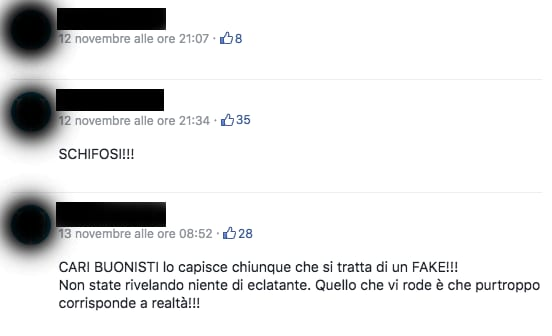 "La catena di modifiche del post ""siamo i vostri assassini"""