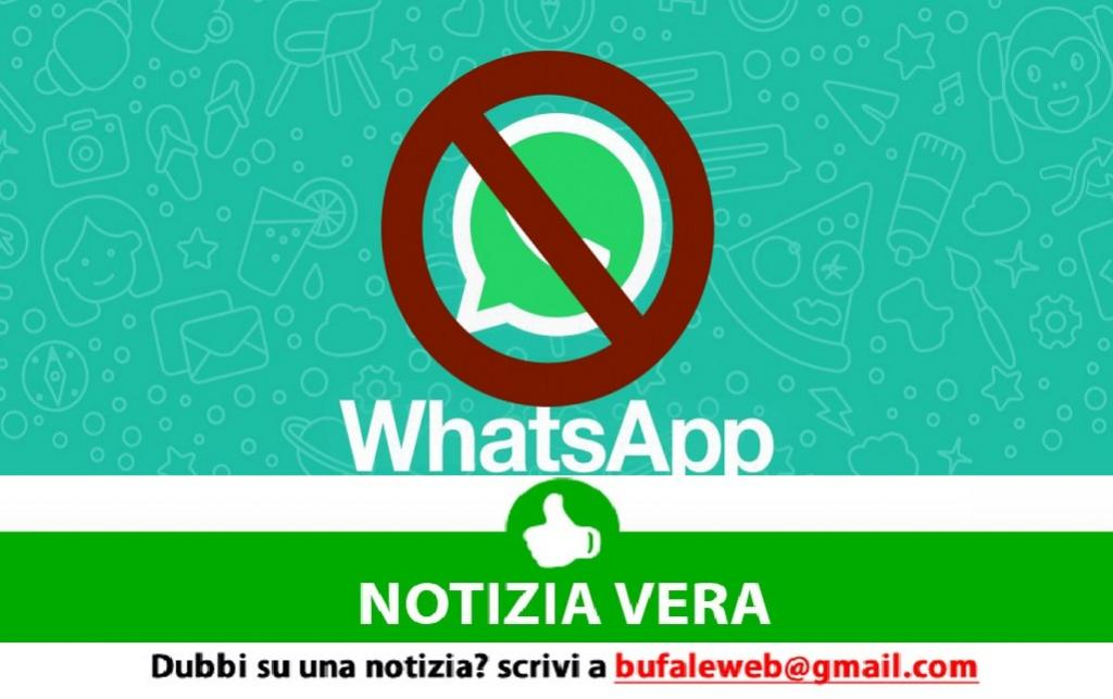 WhatsApp temporaneamente non disponibile