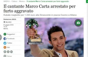 Marco Carta arrestato
