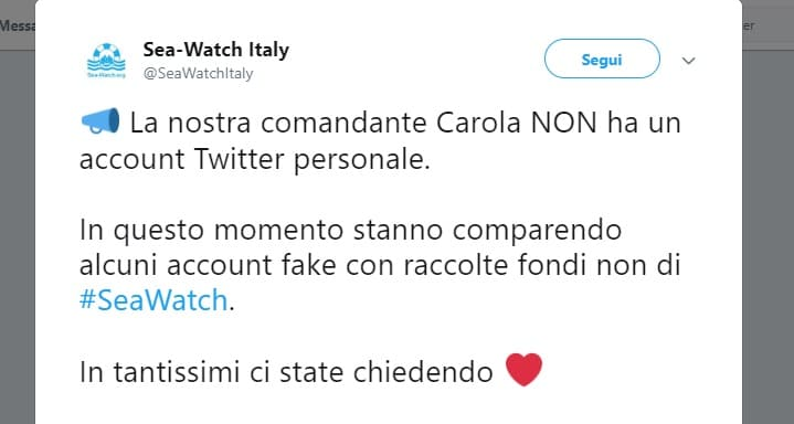 Raccolta fondi per Sea Watch 3