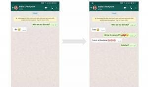 Modificare chat WhatsApp