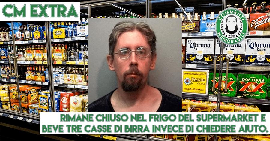 frigo birra supermarket notte