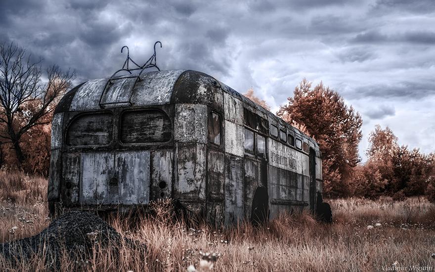 Chernobyl infrarosso fotografie shock