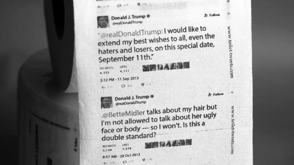 La carta igienica di Donald Trump